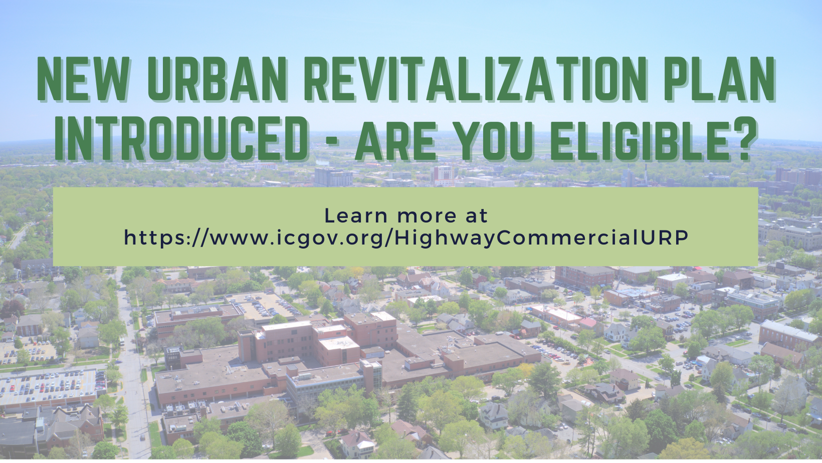 A graphic promoting the new urban revitalization plan.