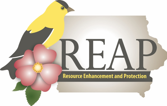 Logo for the Resource Enhancement and Protection program from the Iowa Department of Natural Resources.
