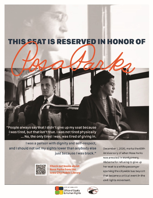 An image of Rosa Parks is shown.
