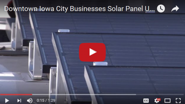 Downtown Iowa City Business Solar Panel Use Video