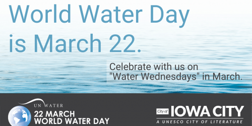 Graphic promoting World Water Day on March 22, 2021.