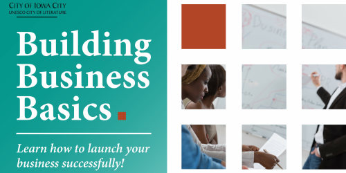 A graphic promoting the 2018 Building Business Basics workshop.