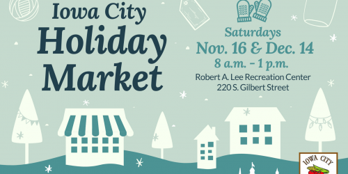 Logo for the 2019 Iowa City Holiday Market.