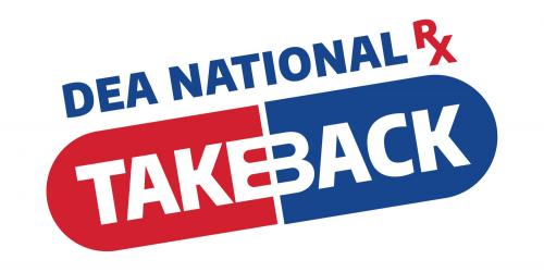 An image promoting a community drug take back event in Iowa City.