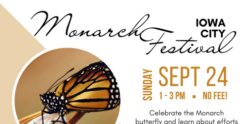 A graphic promoting the Monarch Festival