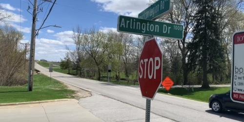 A street sign that reads American Legion Road is shown.