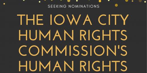 Flyer for the Iowa City Human Rights Commission's Human Rights Awards