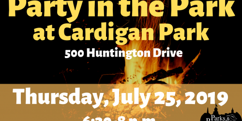 Graphic for Party in the Park at Cardigan Park