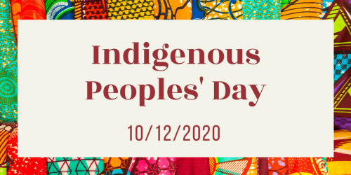 Indigenous People's Day graphic.