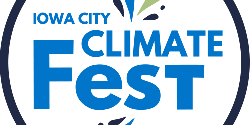 Iowa City Climate Fest logo.