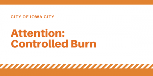 "Graphic that reads ""attention: controlled burn."""