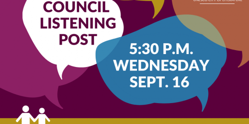 Council Listening Post graphic for Sept. 16, 2020.