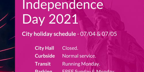 Graphic for Independence Day closures.