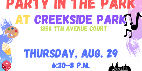 Design for Creekside Park Party in the Park.