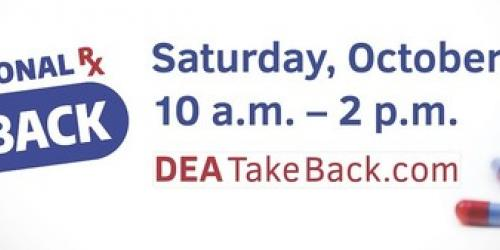 Graphic for National Drug Take Back Day on Oct. 23