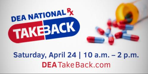 Drug TakeBack Day poster.