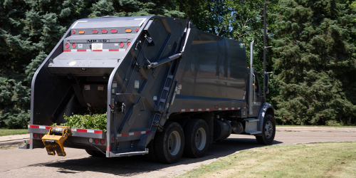An image of garbage truck is shown.