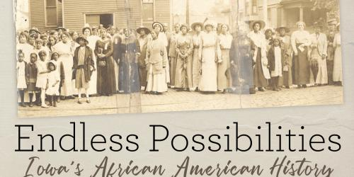 A promotional image for a presentation about African American history in Iowa.