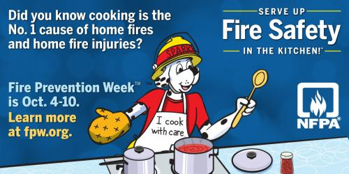 Graphic for Fire Prevention Week,