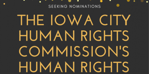 Graphic promoting the Human Rights Commission's Human Rights Awards.