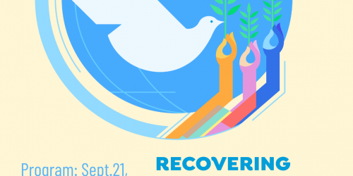 Flyer for the International Day of Peace event on Sept. 21