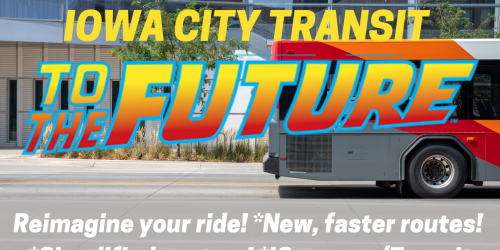 A graphic for changes to the Iowa City Transit system.