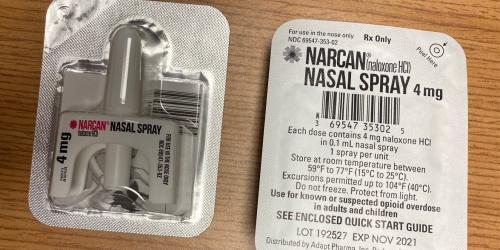 Picture of a Narcan dispenser
