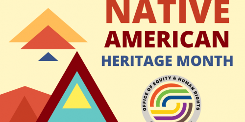 National Native American Heritage Month graphic.