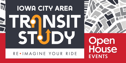 Graphic promoting the Iowa City Area Transit Study.