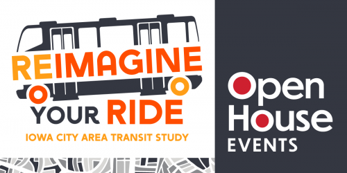 Graphic promoting Transit Study Open House