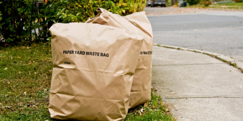 Paper waste bags are shown.