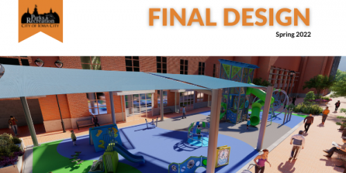 A preview image of a Ped Mall playground design.