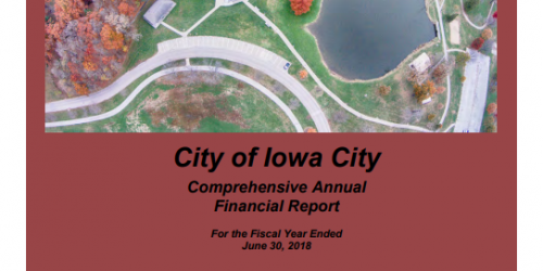 The front cover of the City's Comprehensive Annual Financial Report.