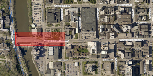 Map of Burlington Street construction project.