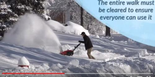 A video thumbnail showing sidewalks being cleared in Iowa City.