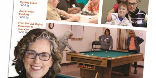 Cover for Senior Center's spring 2020 program guide.