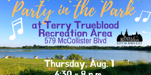 Graphic for Party in the Park at Terry Trueblood: Aug. 1, 2019.
