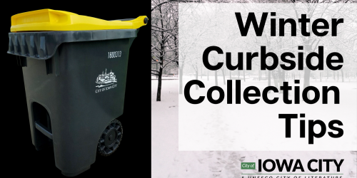 WInter curbside collection tips graphic.
