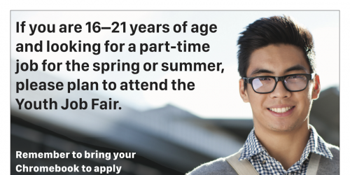 A poster for the Youth Job Fair.