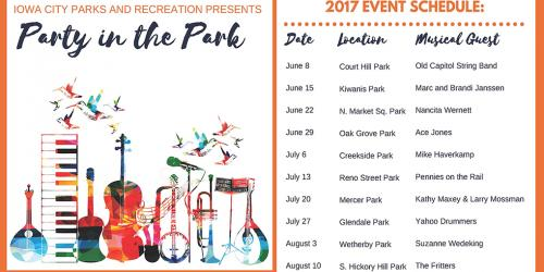 Party in the Park Schedule
