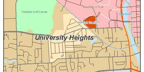Map of University Heights