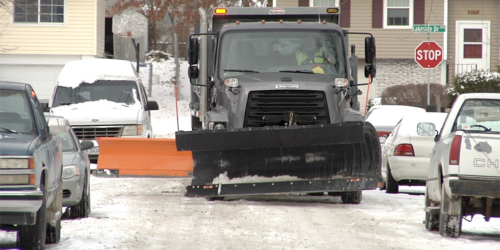 An image of an Iowa City snow plow.