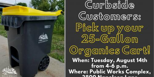 Cart pick up event graphic