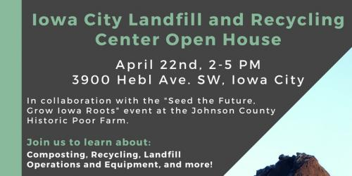 a flyer promoting the landfill open house