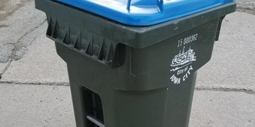 65-gallon recycling cart for curbside collection