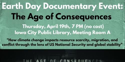 A flyer promoting the Age of Consequence screening at the ICPL