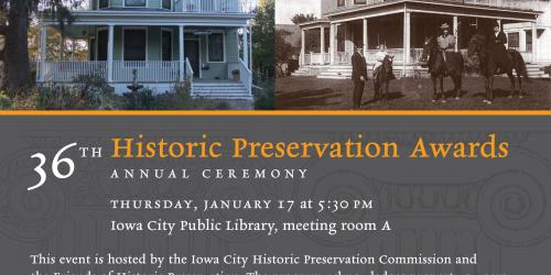 Historic Preservation Award invitation