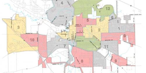 Zone map for storm debris cleanup.
