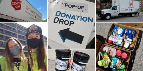photos from university donation events