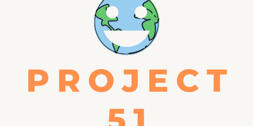 Project 51 with a smiley face on planet Earth